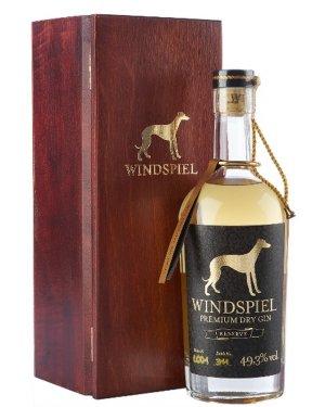 Windspiel Dry Gin Reserve edel verpackt in einer hochwertigen Holzbox