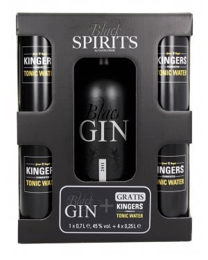 Black Gin und KINGERS Tonic im Set bei GIN IN A BOTTLE