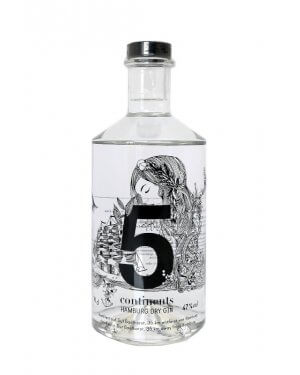 5 Continents London Dry Gin mit Zutaten aus allen Kontinenten